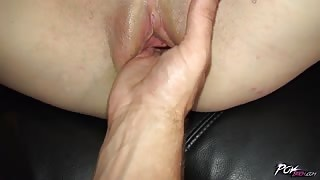 Point of view pussy fisting