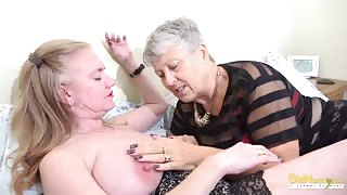 OldNannY Lily May and Savana Lesbian Scenes