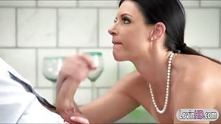 Glamour milf India Summer sucks off and pussy ripped good