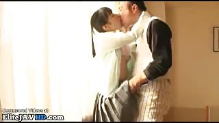 Japanese 18yo beauty let old man to fuck her - More at Elitejavhd.com