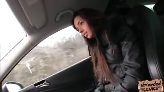 Teen hottie Gina needs a ride and gets fucked hard by the driver