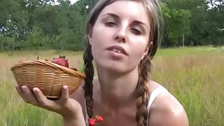 pretty girl gets excited farm - OsirisPorn.com to watch more videos