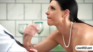 Stunning black haired milf India Summer screwed up real good