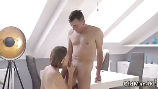 Hardcore deep penetration big dick Old smart gentleman with a young