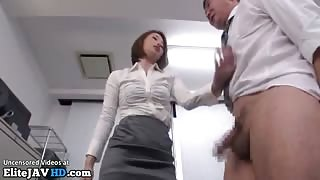 Japanese teacher educates old pervert co worker - More at Elitejavhd.com