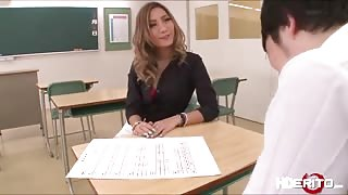 Sexy teacher Aika get lavish by her student and gets fuck