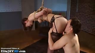 Japanese babe in stockings has rough bondage sex - More at Elitejavhd.com