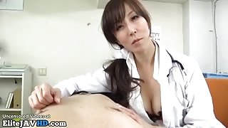 Japanese horny nurse takes patients cum in mouth - More at Elitejavhd.com