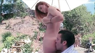 Splendid teen butt licked and teased outdoor
