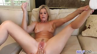 India Summer naked blonde milf enjoys sex
