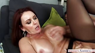 Voluptuous redhead milf gets her pussy ravished