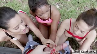 Married interracial When Annika Eve, Mya Mays, and their hot buddy