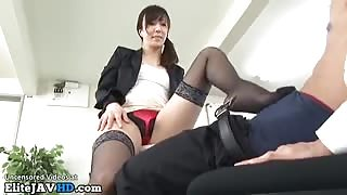 Japan office lady welcomes new co worker - More at Elitejavhd.com
