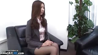 Jav office interview turns in foot fetish sex - More at Elitejavhd.com