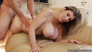 Big-titted mature bimbo gets her pussy drilled