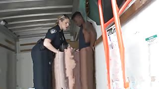 Teen amateur creampie first time Black suspect taken on a rough ride