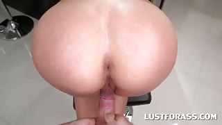 Teen blonde bent over and pussy hammered