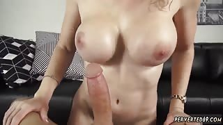 Blonde milf whore and step mom fucks young crony' companion This MILF