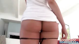 Round butt Allie Haze flaunts her amazing ass then fucked