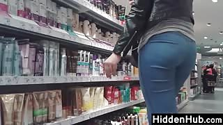 Girl With A Good Ass At The Store
