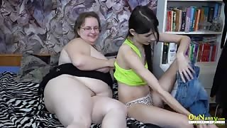 OldNannY Othilia Enjoying Lesbian with Strapon
