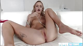 Skinny and horny Emma Hix gets hammered hard by Mr Snows huge cock