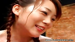 Dirty jap whore gets her mouth pissed in